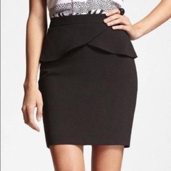 31716eb7fa Express Skirts | High Waist Peplum Pencil Skirt Black | Poshmark